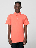 Cotton-Poly Piqué Short Sleeve Collared Shirt