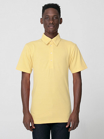 Cotton-Poly Piqué Short Sleeve Collared Shirt