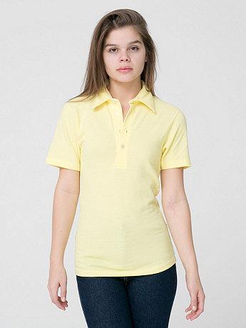 Unisex Cotton-Poly Piqué Short Sleeve Collared Shirt