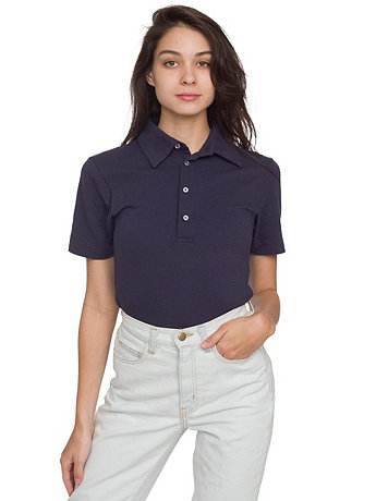 Unisex Cotton-Poly Piqué Short Sleeve Collared Shirt