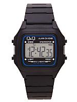 Q&Q Men's Digital Wristwatch - Black and Blue