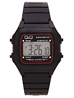 Q&Q Men's Digital Wristwatch - Black and Red