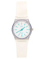 Q&Q Women's Analog Wristwatch - Clear