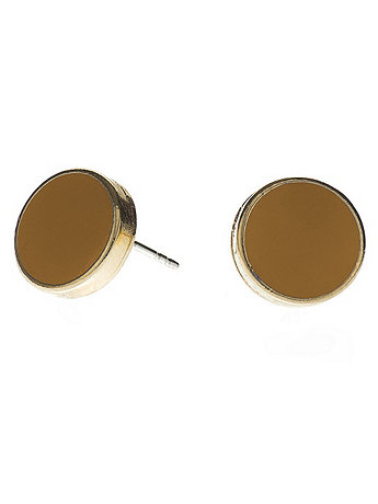 Butterscotch Large Round Post Earrings