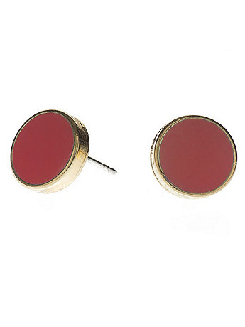 Coral Large Round Post Earrings
