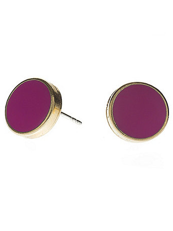 Fuchsia Large Round Post Earrings