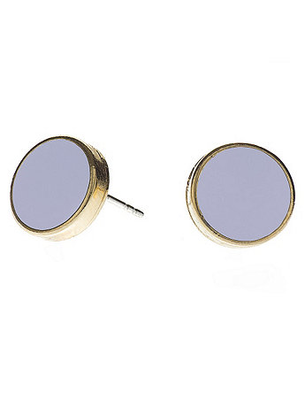 Lilac Large Round Post Earrings