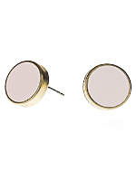 Light Pink Large Round Post Earrings