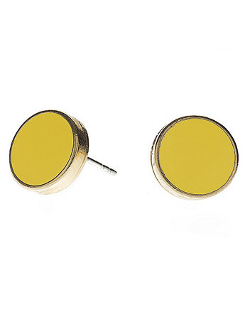 Sunshine Large Round Post Earrings