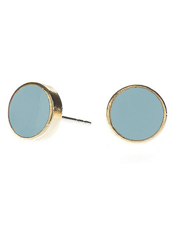 Baby Blue Medium Round Post Earrings