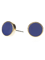 Royal Blue Medium Round Post Earrings