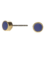 Royal Blue Small Round Post Earrings