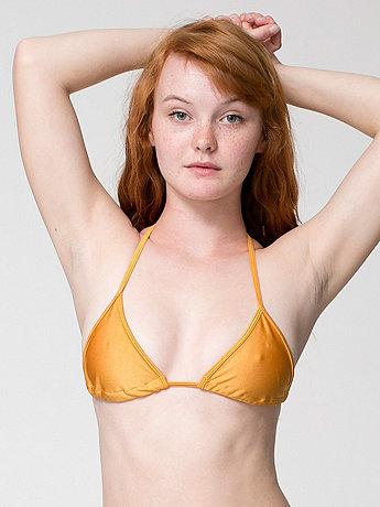 Nylon Tricot Triangle Bikini Top