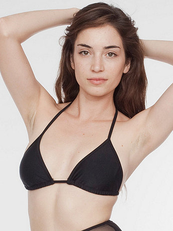 Nylon Tricot Triangle Bikini Top