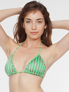 Printed Nylon Tricot Triangle Bikini Top