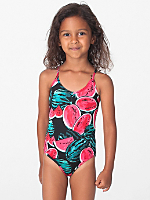 Fruit Print Kids One-Piece Bathing Suit