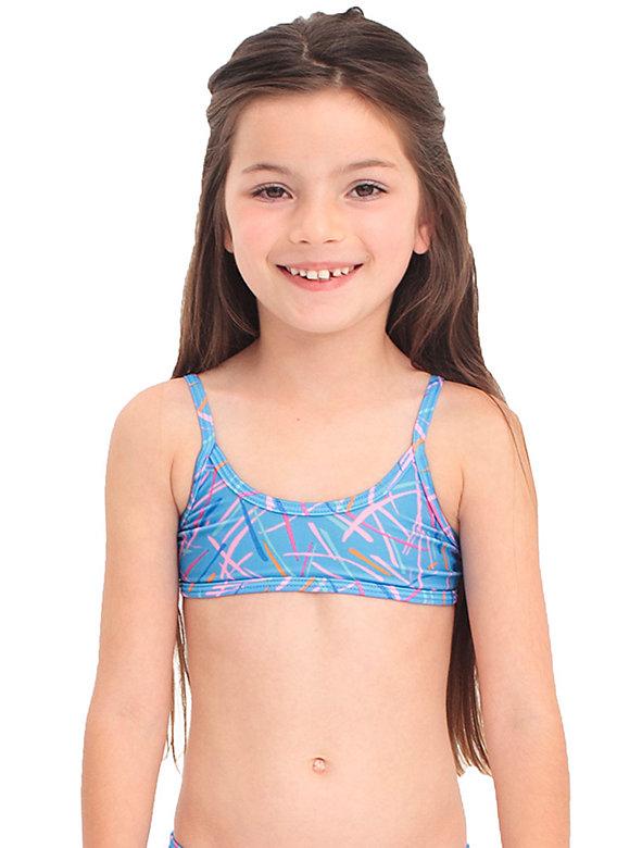 Kids' Printed Bikini Top
