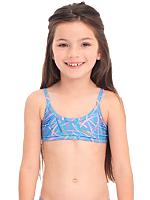 Kids Printed Bikini Top