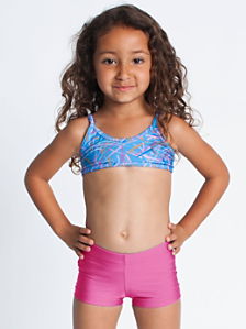 Nylon Tricot Kids' Swim Brief