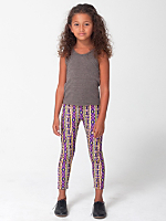 Kids Printed Nylon Tricot Legging
