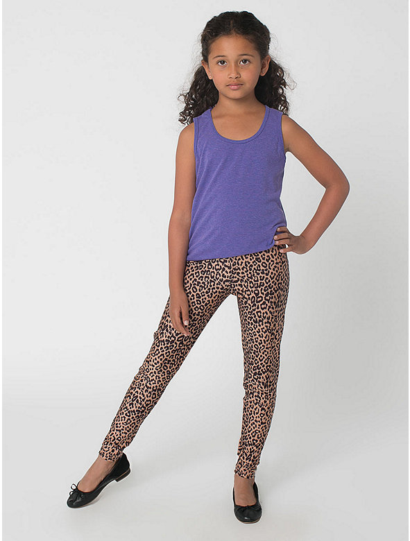 Kids' Printed Nylon Tricot Legging