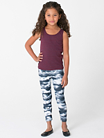 Kids' Patterned Polyester Spandex Legging