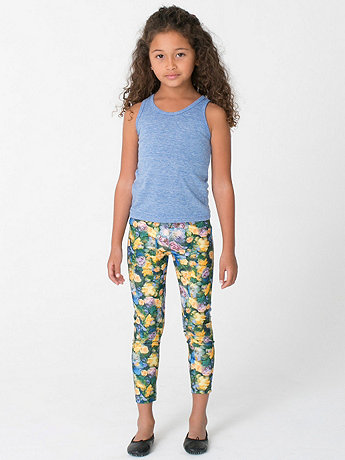 Kids Patterned Polyester Spandex Legging