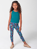 Kids Floral Print Nylon Tricot Legging