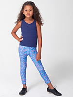 Kids Rhymer Print Nylon Tricot Legging