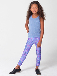 Kids' Rhymer Print Nylon Tricot Legging