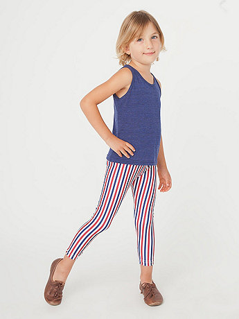 Kids Stripe Nylon Tricot Legging