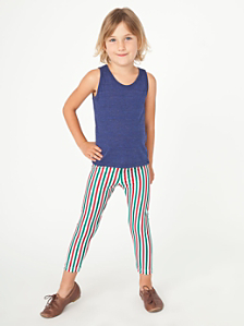 Kids' Stripe Nylon Tricot Legging