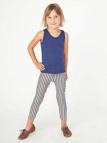Kids' Stripe Nylon Tricot Legging