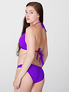 Nylon Tricot Flat Bikini Bottom