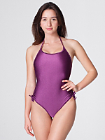 Nylon Tricot Ruched Swimsuit
