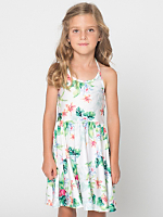 Printed Kids Nylon Tricot Skater Dress