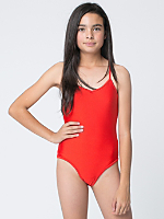 Youth Nylon Tricot One-Piece Bathing Suit