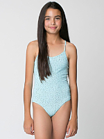 Printed Youth Nylon Tricot One-Piece Bathing Suit