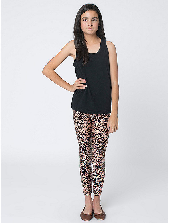 Youth Printed Nylon Tricot Legging