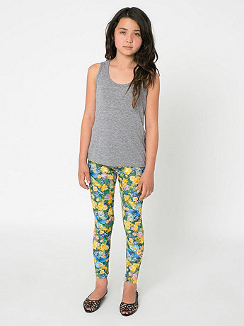 Youth Patterned Polyester Spandex Legging