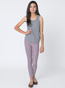 Youth Stripe Nylon Tricot Legging