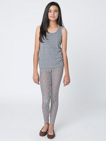 Youth Stripe Nylon Tricot Legging