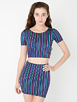 Striped High-Waist Mini Skirt