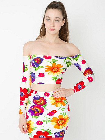 Floral High-Waist Mini Skirt