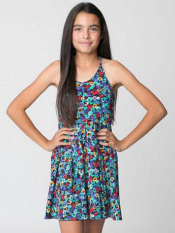 Youth Nylon Tricot Figure Skater Dress
