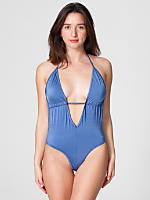 Nylon Tricot Maillot-V Swimsuit