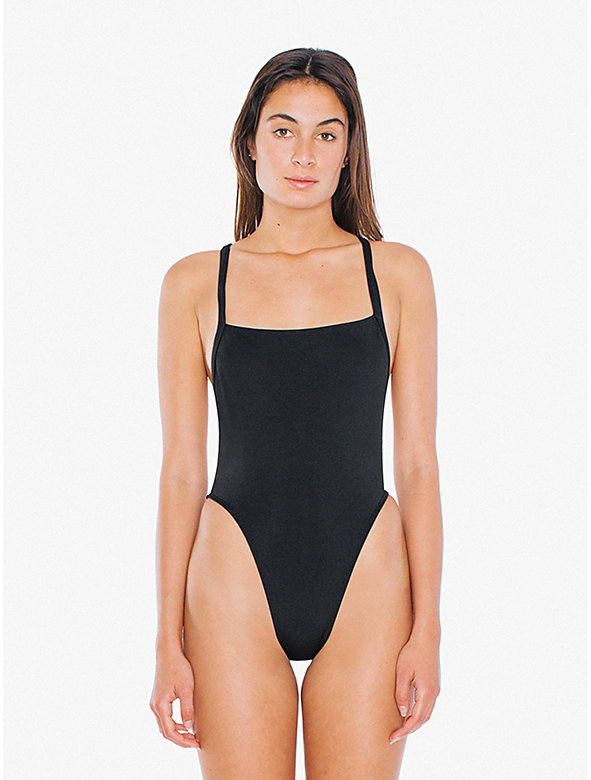 Crisscross Overall One-Piece Swimsuit