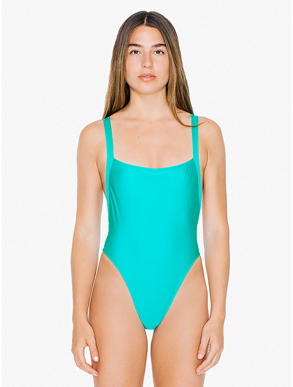 Crisscross Overall One-Piece Swimsuit