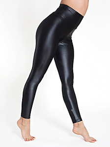 Glossy Nylon Tricot High-Waist Leggings