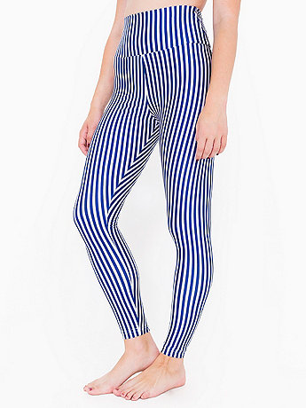 Print Nylon Tricot High-Waist Leggings
